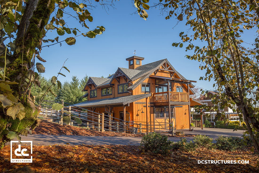 post and beam barn home